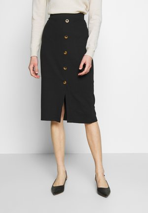 SKIRT WITH DETAIL - Pencil skirt - black