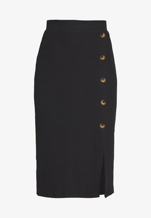SKIRT WITH DETAIL - Pennkjol - black