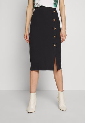 SKIRT WITH DETAIL - Pencil skirt - black