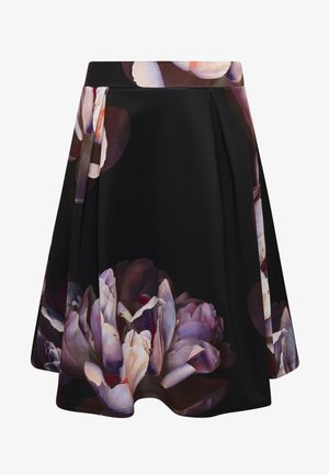 A-lijn rok - dark floral