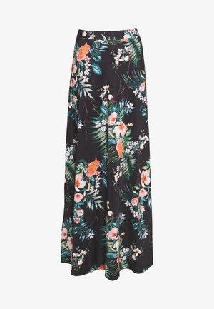 Falda larga - black/multicoloured
