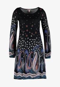 Anna Field - Stickad klänning - black - 5