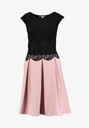 Jersey dress - black/rose
