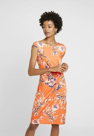 Pouzdrové šaty - orange/blue