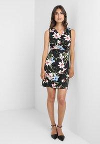Anna Field - Shift dress - black/pink - 2