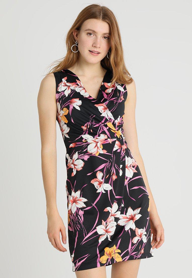 Anna Field - Shift dress - black/pink/purple
