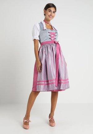 Dirndl - pink/light blue