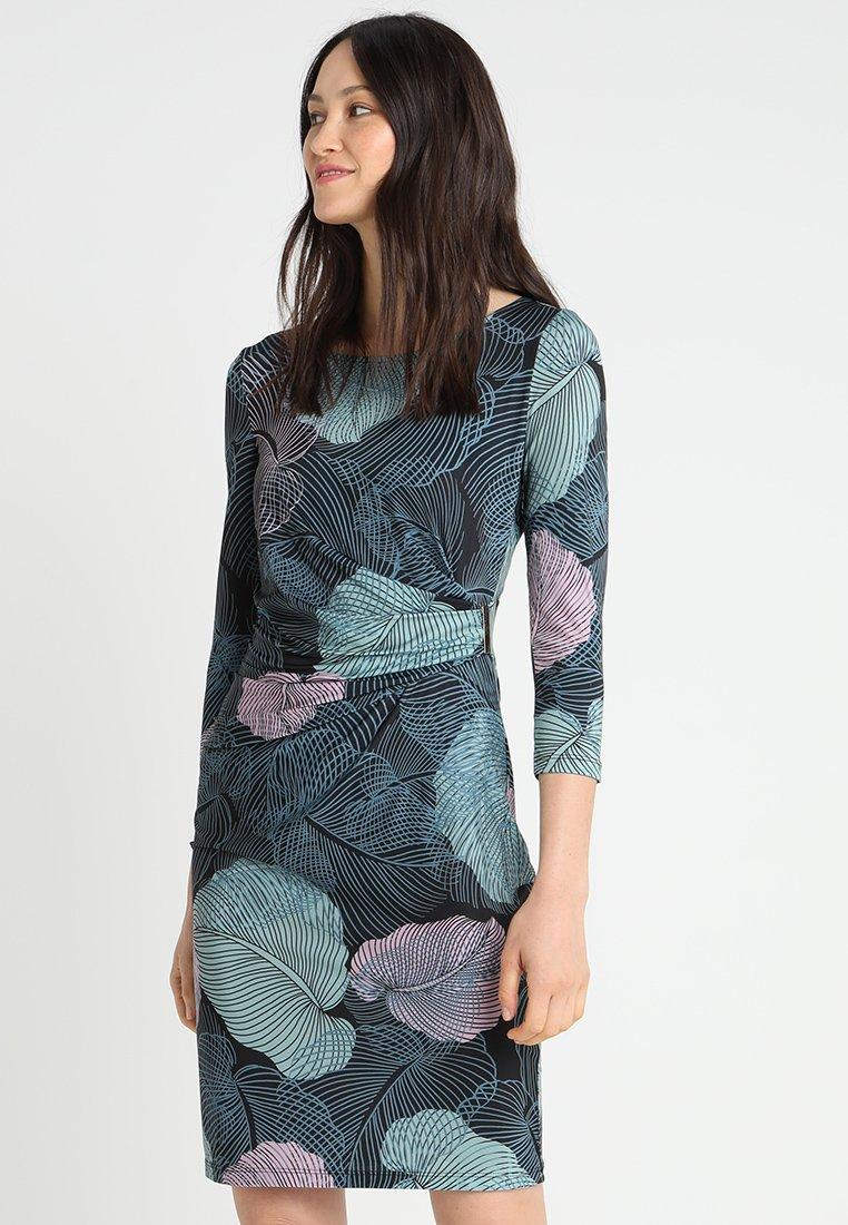 Anna Field - Vestido de tubo - black/light blue