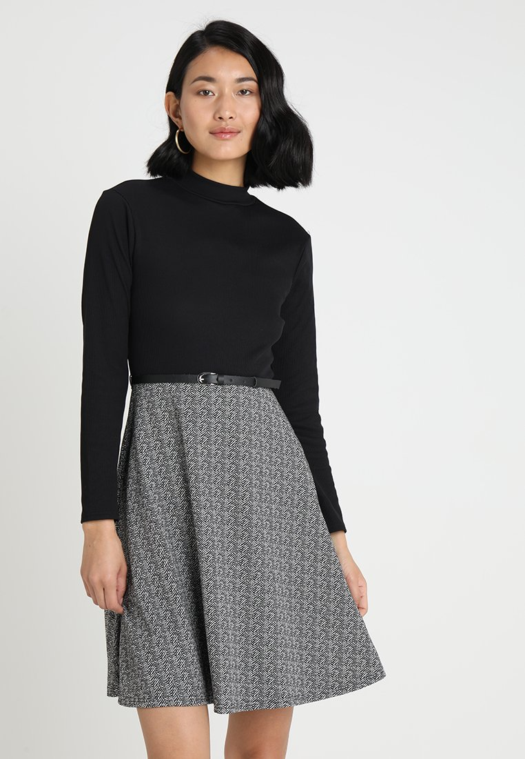 Anna Field - Day dress - black/white