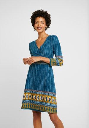 Denní šaty - dark blue/mustard