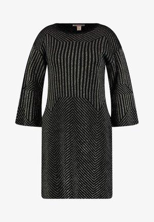 Sukienka dzianinowa - black/gold