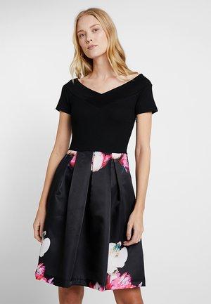 Kjole - black/pink