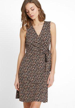 DRESS CACHE COEUR PRINT - Jerseykleid - brown/beige/black