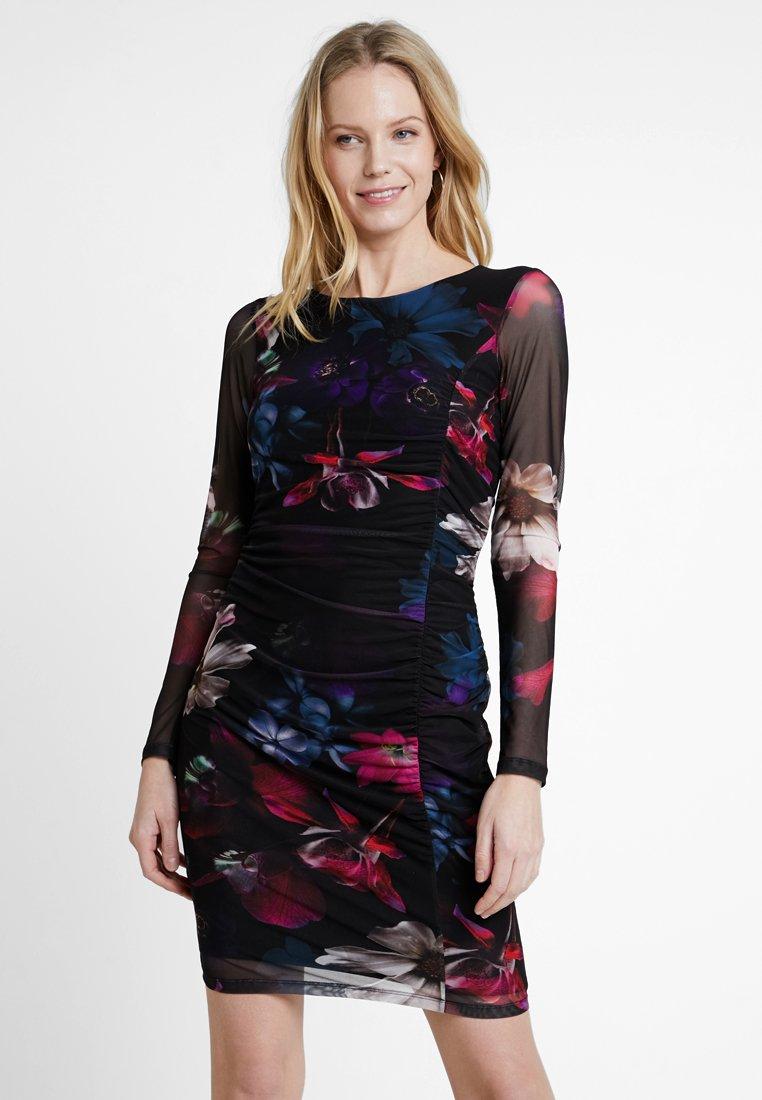 Anna Field - PRINTED DRESS - Shift dress - black/pink