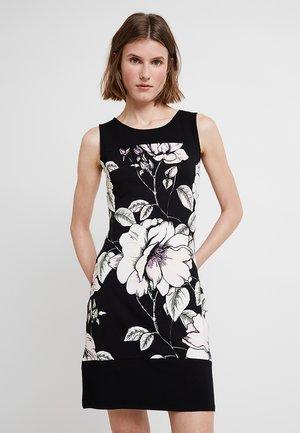 Pouzdrové šaty - rose/black