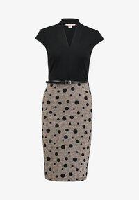 Anna Field - Vestido de tubo - black/rose - 4