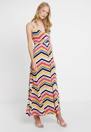 Robe longue - white/pink/black