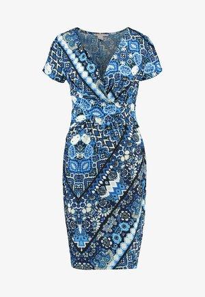 Jerseykleid - light blue/blue