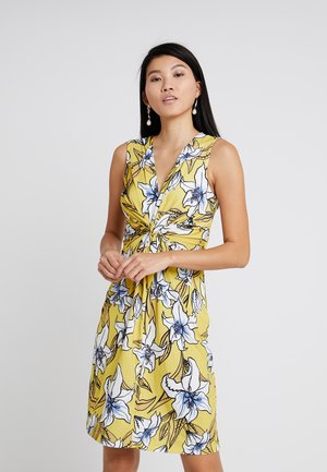 Jersey dress - yellow/light blue