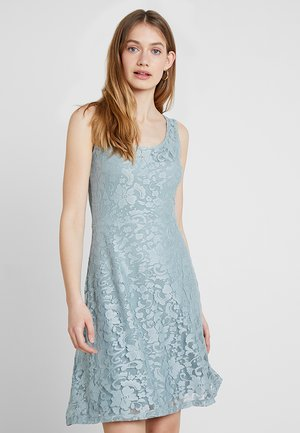 Korte jurk - silver/blue