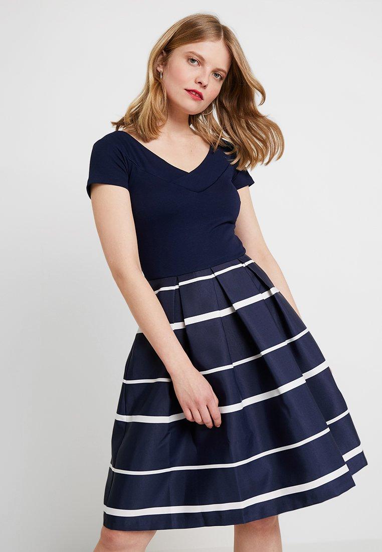 Anna Field - Cocktailkleid/festliches Kleid - dark blue/white