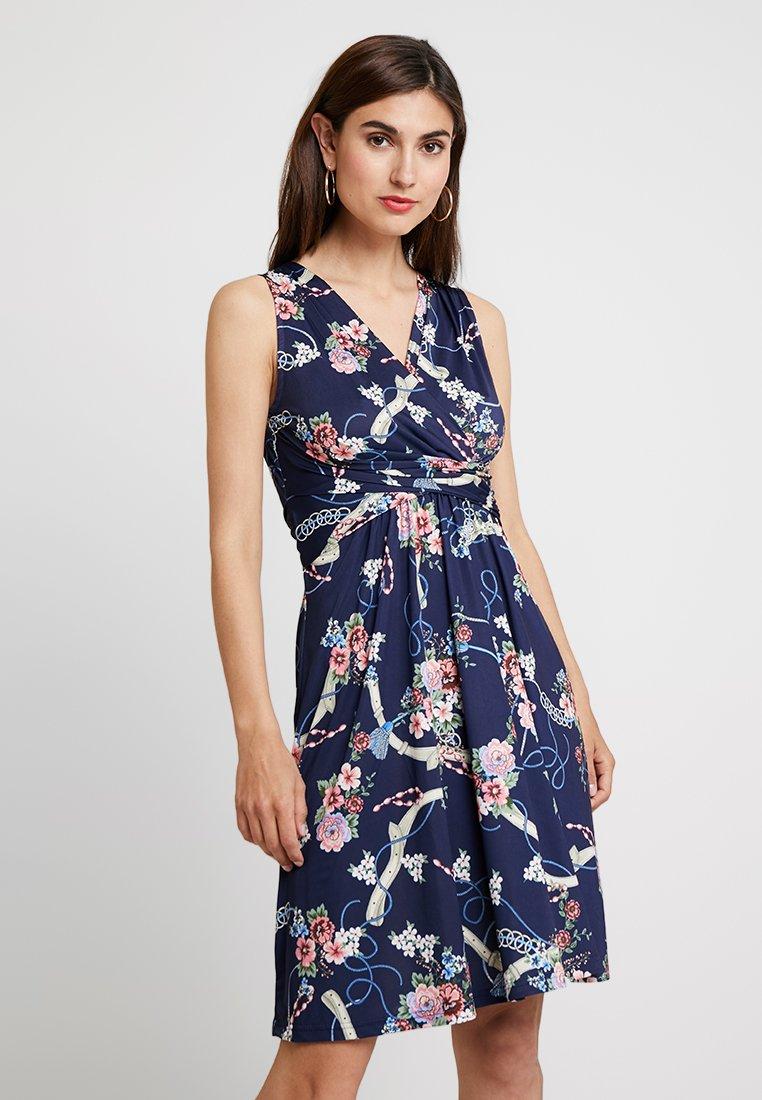 Anna Field - Jerseykleid - white/blue/ rose