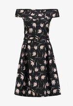 Koktejlové šaty/ šaty na párty - lilac/black