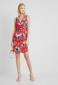 Anna Field - Shift dress - white/red/darkblue - 1
