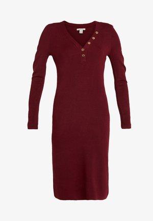 Sukienka dzianinowa - dark red