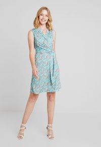 Anna Field - Day dress - white/blue/orange - 1