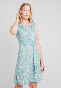 Anna Field - Day dress - white/blue/orange - 0