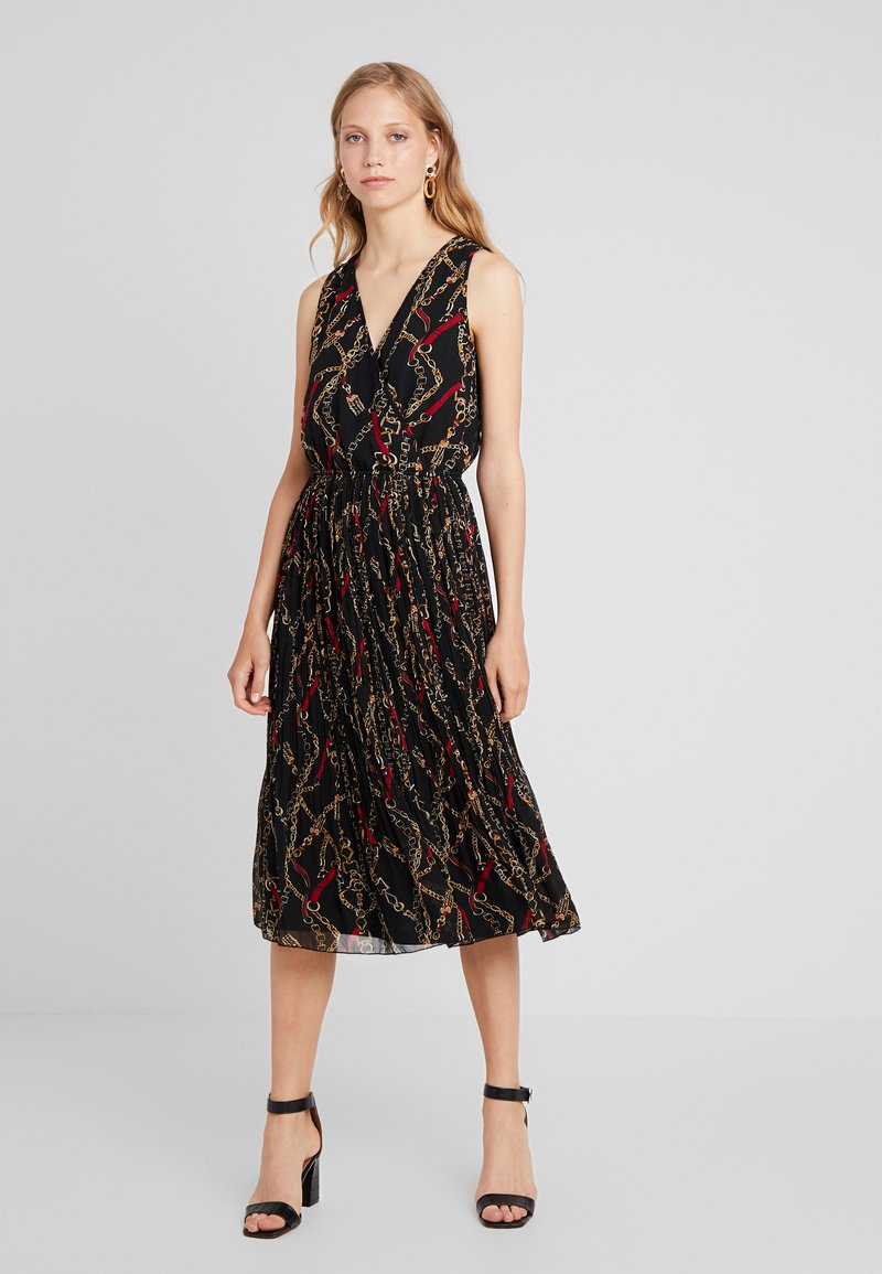 Anna Field - PLISSE SKIRT WRAP TOP - Robe longue - multi-coloured