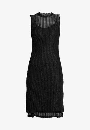 Freizeitkleid - metallic black