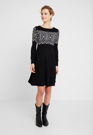 Kjole - black/off white