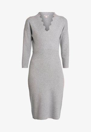 Sukienka dzianinowa - mid grey melange