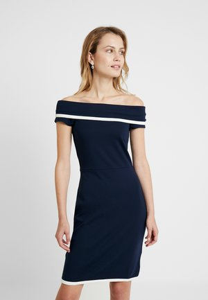 Cocktail dress / Party dress - navy/white