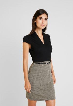 Etuikleid - beige/black