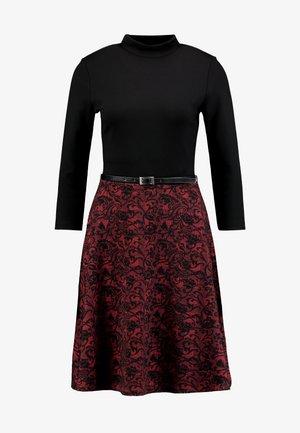 Shift dress - red/black