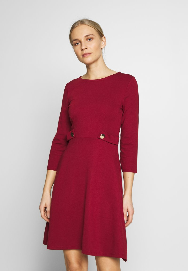 Anna Field - PUNTO FIT & FLARE - Jersey dress - biking red