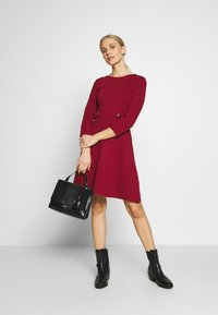 Anna Field - PUNTO FIT & FLARE - Jersey dress - biking red - 1