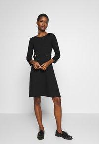 Anna Field - PUNTO FIT & FLARE - Jersey dress - black - 0