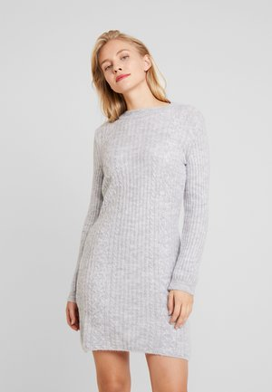 Strikket kjole - light grey marl