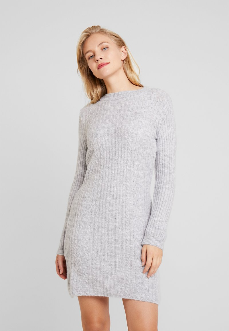 Anna Field - Strikket kjole - light grey marl
