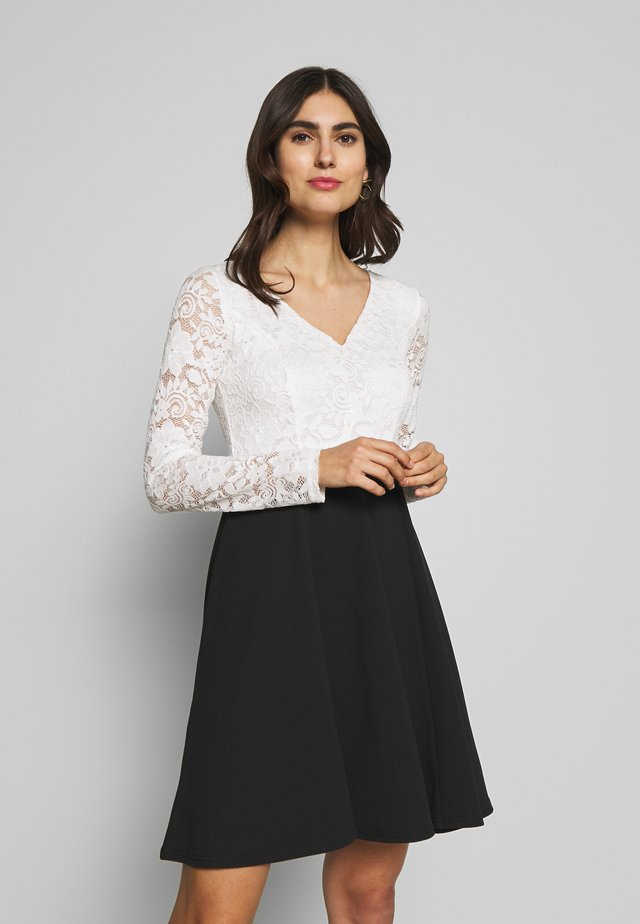 Cocktail dress / Party dress - black/white