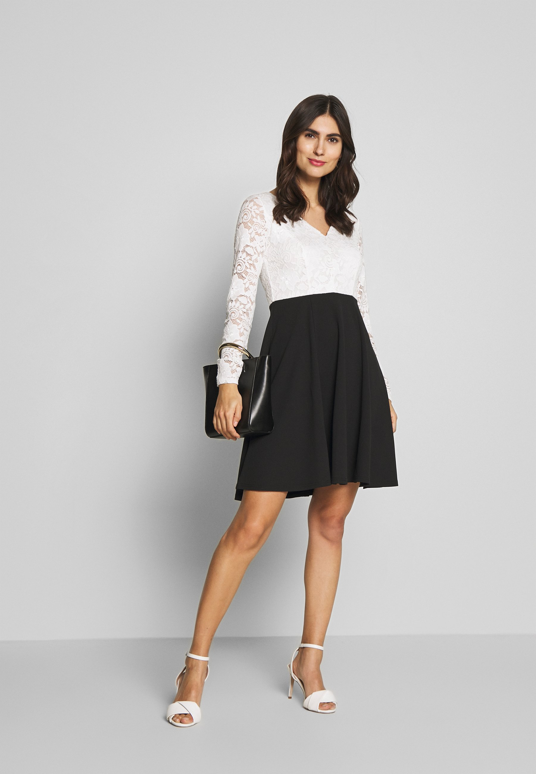 Anna Field Vestito elegante - black/white qQlXrLoN