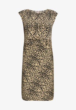 Jersey dress - black/beige