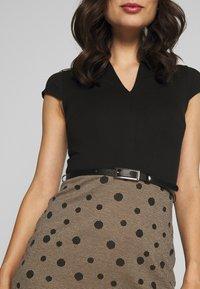 Anna Field - Shift dress - beige/black - 4