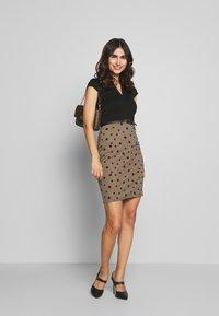 Anna Field - Shift dress - beige/black - 1