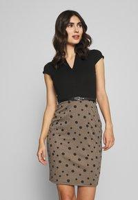Anna Field - Shift dress - beige/black - 0