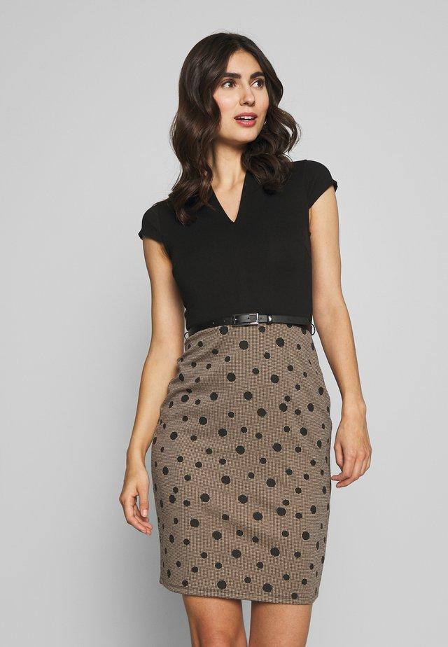 Shift dress - beige/black
